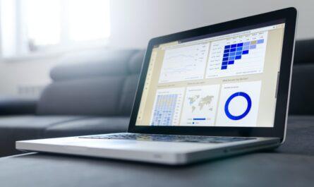 Počítač, na kterém je zobrazena úroková sazba a její vývoj.